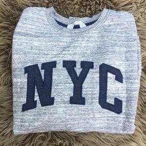 H&M grey & navy NYC sweatshirt - size 12-14Y